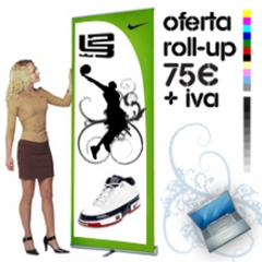expositores roll up baratos en barcelona, copyshow