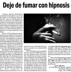 Deje de fumar con hipnosis