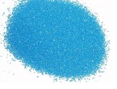Arena de silice  te�ida azul