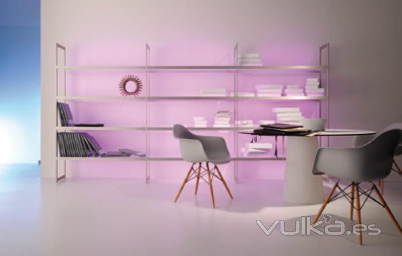 Foto estanter a luz estanter a iluminada s6 aluminio - Estanterias con luz ...
