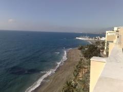 Vistas de marbella oeste. puerto deportivo y al fondo puerto banus