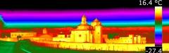 Termografia ensamblada (varias termografias unidas) del monasterio de poblet