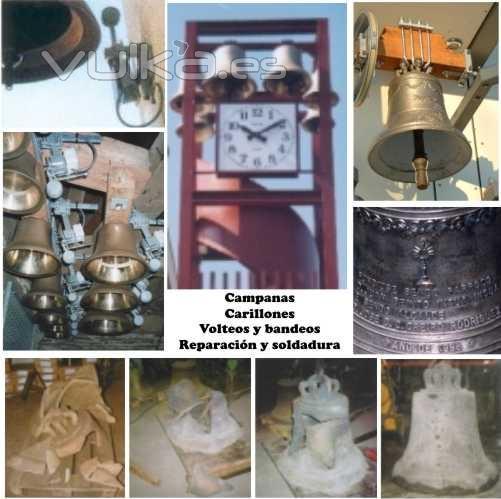 Campanas, fundici�n, y soldadura, carillones