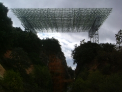 Montaje cubierta translucida yacimientos de atapuerca