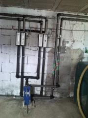 Conexión primario-secundario-intercambiador-grupo hidráulico