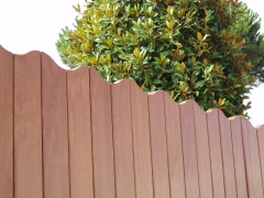 Valla de PVC  modelo ONA  foliado madera