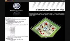 En desarrollo: empresa distribuidora e instaladora de elementos de seguridad. creada en css y elementos en flash ...