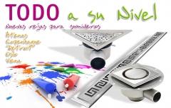 Gama de sumideros de diseño para platos de ducha. rejas decorativas a elegir