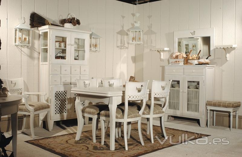 foto comedor completo mesa extensible 1 40 sillas