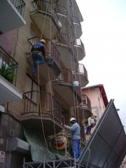 Reparación de forjados en fachada