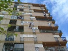 Rehabilitaci�n fachada trabajos verticales
