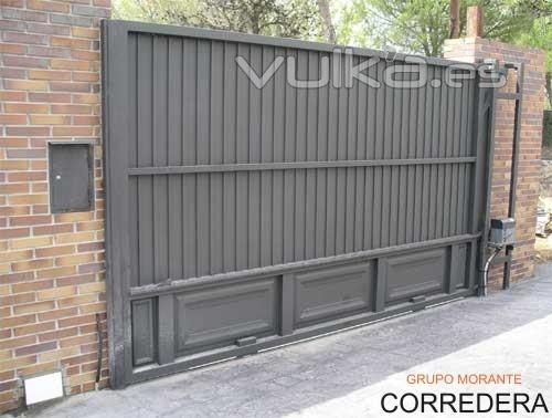 Puertas correderas electricas materiales de construcci n para la reparaci n - Puerta de garaje automatica precio ...