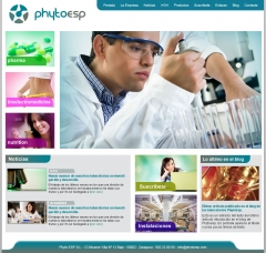 Foto de la pantalla principal de la web de phyto-esp