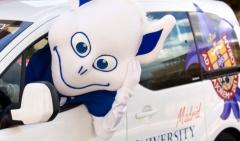 Promoción de la universidad por nuestra mascota!