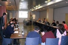 Cata de vinos búlgaros en el congreso internacional de enoturismo, barcelona 02 feb 2010