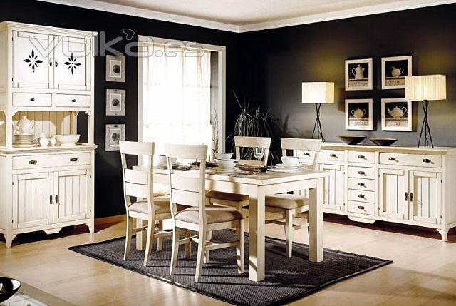 Muebles blanco roto envejecido 20170801064205 for Muebles coloniales blanco