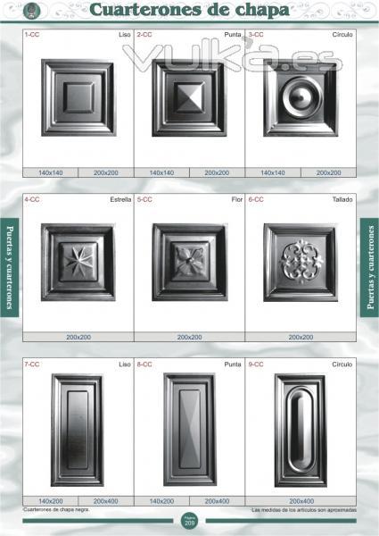 foto puertas y cuarterones de chapa