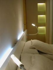 Decoraci�n de piso. iluminaci�n en el dormitorio