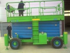 Tijera de 21m de altura de trabajo-diesel 4x4