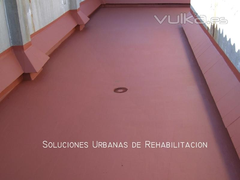Impermeabilización de cubierta TRANSITABLE (terraza)