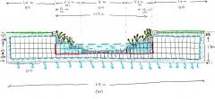 Deposito tormenta sostenible con l�mina agua permanente