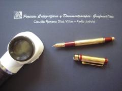 Pericias Caligráficas y Documentoscopia - Grafoanálisis - Claudia Roxana Díaz Vittar