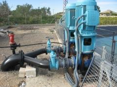 Riegos agricolas. instalacion con 2 motores 160 kw.