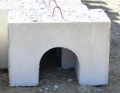 Caballete prefabricado hormigon para lastrado de tuberias gas natural