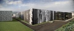 Vista panor�mica del nuevo centro de amorebieta (bizkaia)