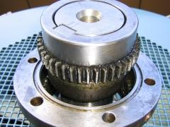 Acoplamiento de motor lado del ventilador.