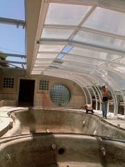 Cubierta telesc�pica piscina gunitada e hidromasaje. obra sr. pelayo gomez (puntagorda)