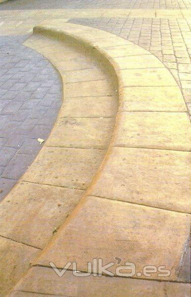 Foto escalones de hormigon impreso for Hormigon impreso sagunto