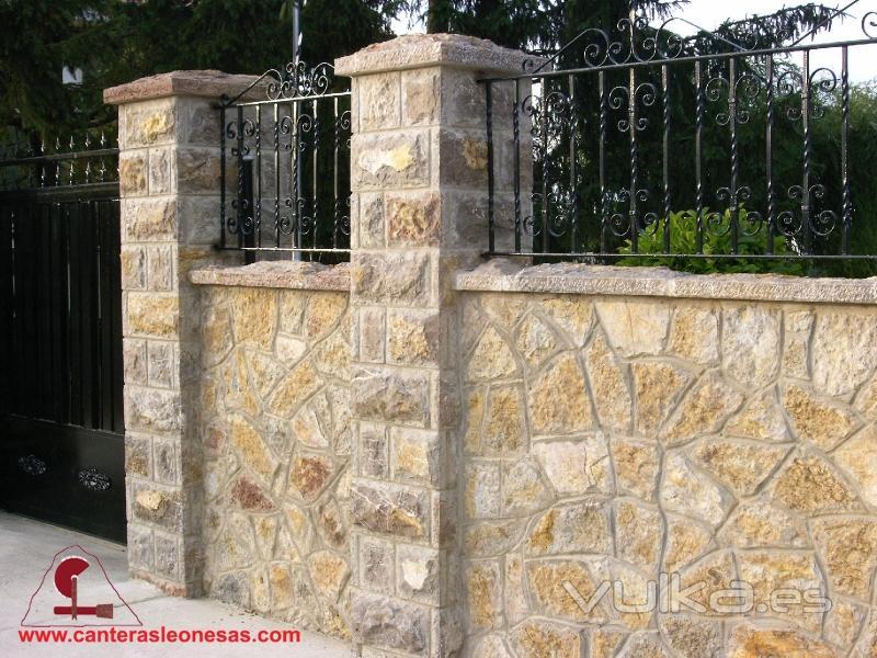 Foto valla de piedra natural caliza canteras leonesas le n - Vallas de piedra ...