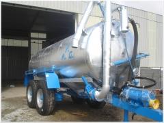 Cisternas para almacenamiento y/o esparcimiento de purines, agua, funciones automaticas.