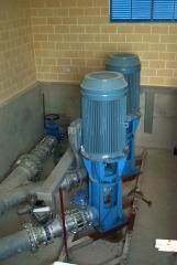 Motores abb de un bombeo de aguas.