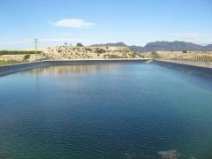 Pantano o lago artificial para regadios sureste espa�a.
