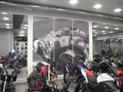 Mural gran formato tienda de motos