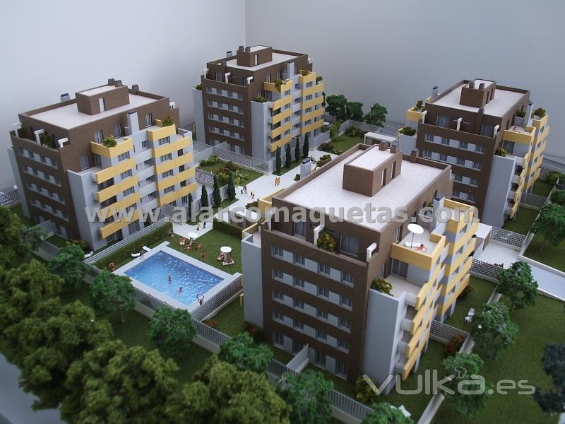 Maqueta. Maqueta arquitectura. Maqueta urbanizacion Alarco Maquetas