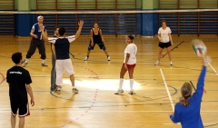 Equipo de volley ball de saint louis university, madrid campus