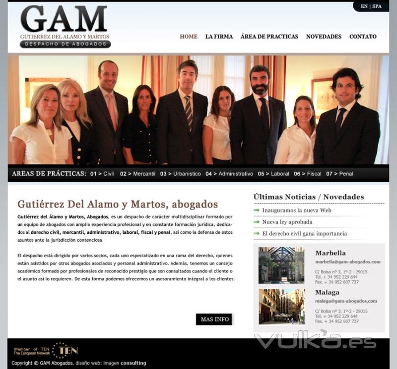 Foto Dise O De P Gina Web Gutierrez Del Alamo Y Martos