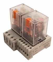 Conjunto de relés y bases de la serie electromecánica estándar m