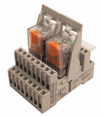 Conjunto de relés y bases de la serie electromecánica estándar q