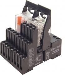 Conjunto de relés y bases de la serie electromecánica eco t