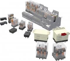 Relés y bases de la serie electromecánica eco t