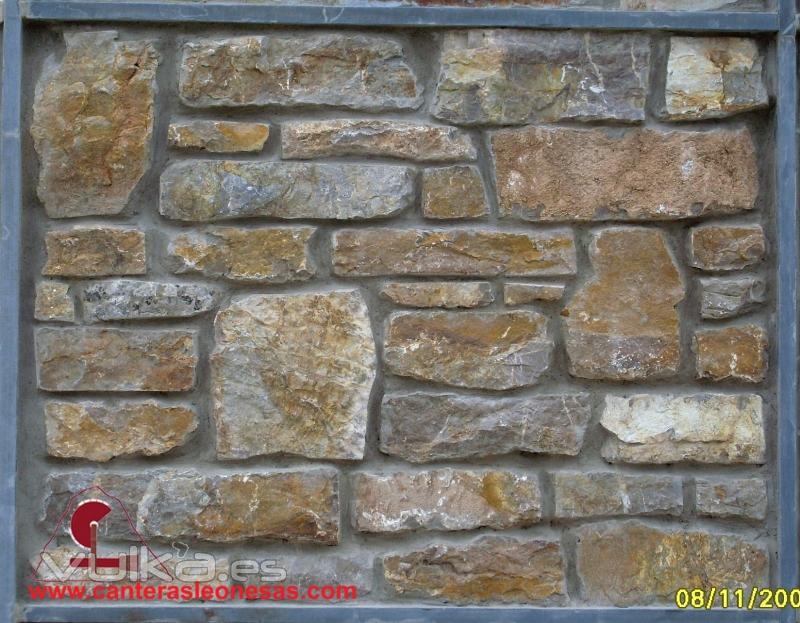Foto taco piedra caliza canteras leonesas leon - Colocacion piedra natural ...