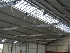 Motores techo invernadero y alumbrado general.