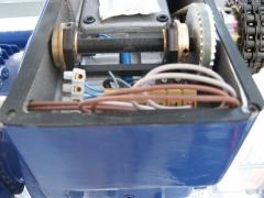 Motor de invernadero. detalle mecanismo arrastre.