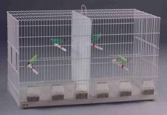 Jaula de cría. dos puertas en cada lateral,  y piso inferior extraible. permite tanto comederos individuales, como ...