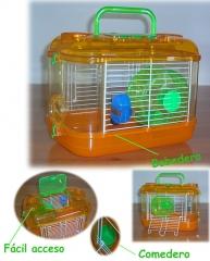 Jaula hamster junior. medidas 23x30x20 cm. un mundo de diversión y entretenimiento para tu hamster.