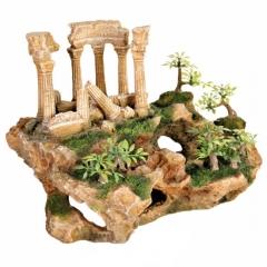 Ruinas romanas poliéster 26 cm. realza la belleza de tu acuario con estas hermosas ruinas romanas, con plantas ...